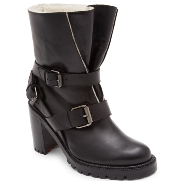 a79caaacdf92 Christian Louboutin Viyonce motorcycle boots